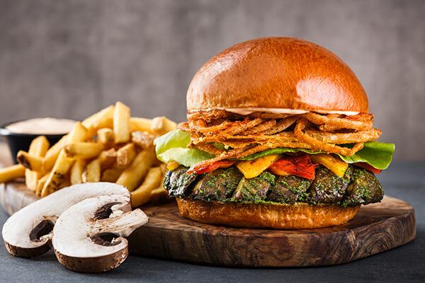TGIF  Portobello Mushroom Veggie Burger